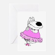 BALLET BEAR * Pink * Greeting Cards (Pk of 20)