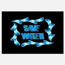 Funny Save water Wall Art
