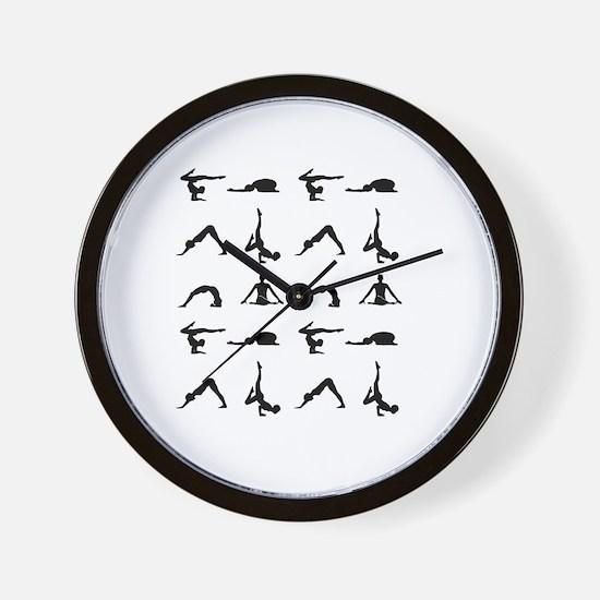 Cute Pilates Wall Clock