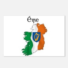 Ireland flag map Postcards (Package of 8)