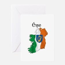 Ireland flag map Greeting Card