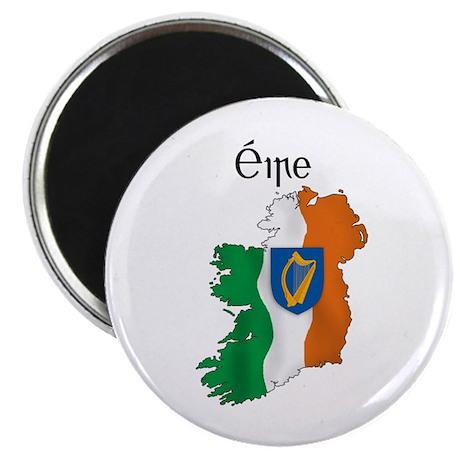 "Ireland flag map 2.25"" Magnet (100 pack)"