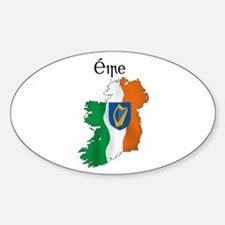 Ireland flag map Oval Decal