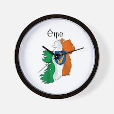 Ireland flag map Wall Clock