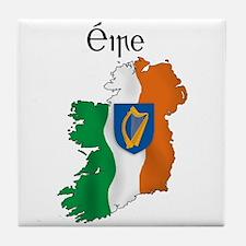 Ireland flag map Tile Coaster