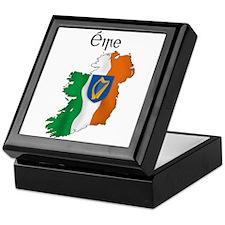 Ireland flag map Keepsake Box