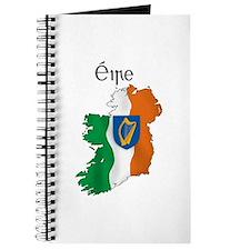 Ireland flag map Journal