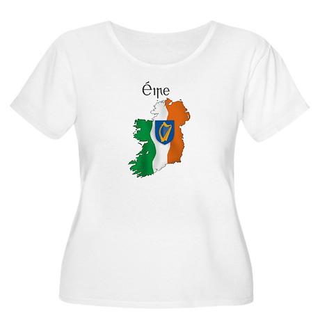 Ireland flag map Women's Plus Size Scoop Neck T-Sh