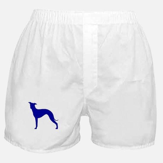 Greyhound Two Blue 1 Boxer Shorts