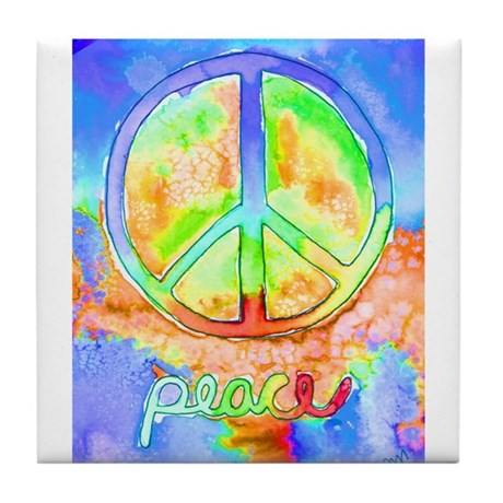 Peace Tile Coaster