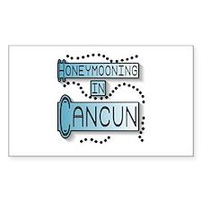 Blue Honeymoon Cancun Rectangle Decal