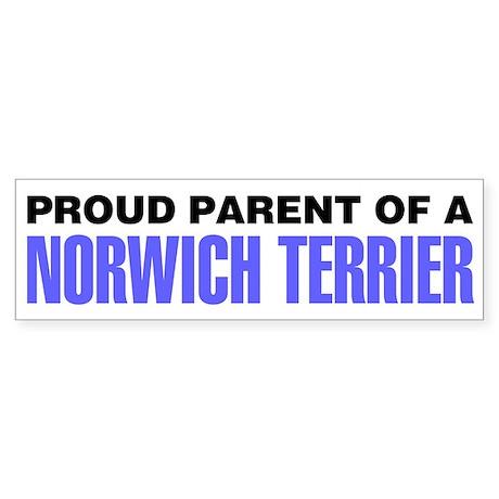 Proud Parent of a Norwich Terrier Sticker