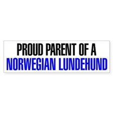 Proud Parent of a Norwegian Lundehund Bumper Sticker