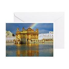 Golden Temple Rainbow Greeting Card