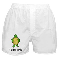 T Is For Turtle Boxer Shorts