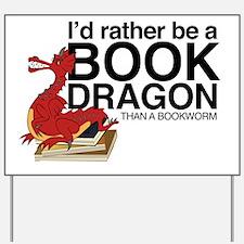 Cute Bookworm Yard Sign