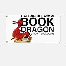 Cute Bookworm Banner