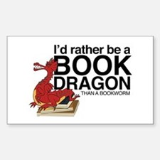 Book Dragon Decal