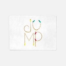 Jump Ropes 5'x7'Area Rug