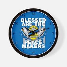 I Fear No Evil Deputy Sheriff Crusader Wall Clock