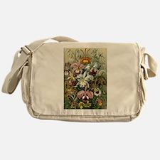 Vintage Orchid Floral Messenger Bag