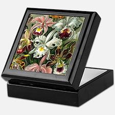 Vintage Orchid Floral Keepsake Box