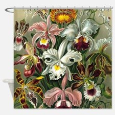 Vintage Orchid Floral Shower Curtain