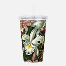 Vintage Orchid Floral Acrylic Double-wall Tumbler
