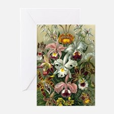 Vintage Orchid Floral Greeting Cards