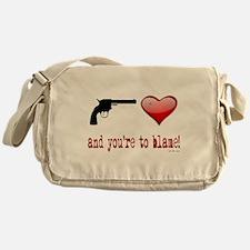 Shot Through the Heart Messenger Bag