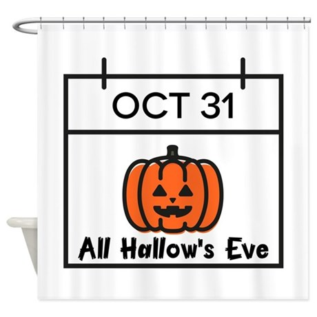 All Hallows Eve Shower Curtain By Embroidery31