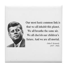 John F. Kennedy 1 Tile Coaster