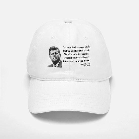 John F. Kennedy 1 Baseball Baseball Cap