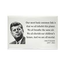 John F. Kennedy 1 Rectangle Magnet