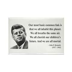 John F. Kennedy 1 Rectangle Magnet (10 pack)