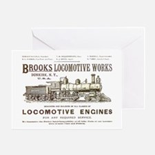 Brooks Locomotive Works Greeting Card
