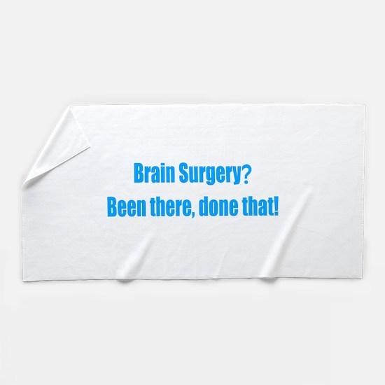 Funny Brain Surgery Beach Towel