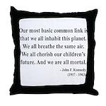 John F. Kennedy 1 Throw Pillow