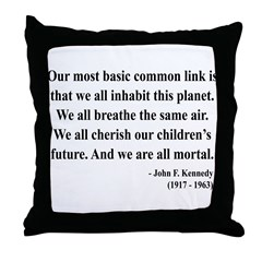 John F. Kennedy 1 Throw Pillow