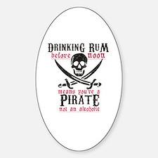 Cute Pirate Sticker (Oval)