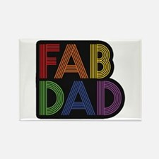 Fab Dad Rectangle Magnet