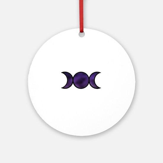 Galaxy Triple Goddess Round Ornament