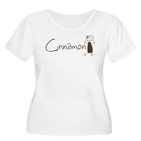 Cinnamon Girl Women's Plus Size Scoop Neck T-Shirt