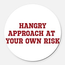 HANGRY Round Car Magnet