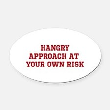 HANGRY Oval Car Magnet