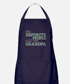 Call Me Grandpa Apron (dark)