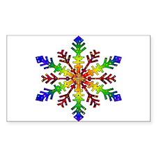 Rainbow Stars Snowflake Decal