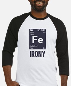 Ironic Chemical Element FE Irony Baseball Jersey