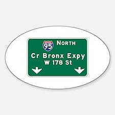 Cross Bronx Expressway, NYC Road Si Sticker (Oval)