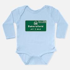 Bakersfield, CA Road S Long Sleeve Infant Bodysuit